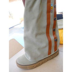 L.A.M.B. Gwen Stefani Zeyn Suede Boots & Bag 8.5